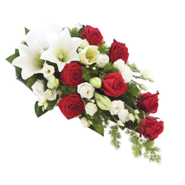 Puna-valkoinen hautavihko