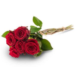 Viisi punaista ruusua