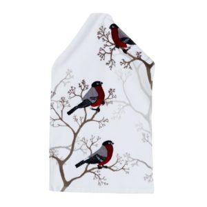 Domherre 30x50cm Guest Towel, Joulunpunainen