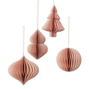 Bc Christmas Mix 9x10cm 4 Pcs Paper Dec, Pioni, 9x9cm