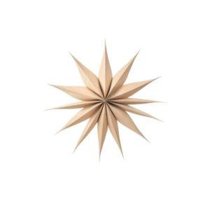 Bc Venok Ø70cm Decoration Star, Kermanvalkoinen, 70x70cm
