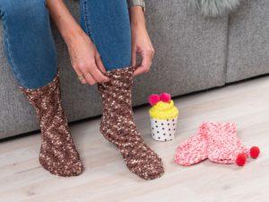 Cupcake Socks - Vadelma