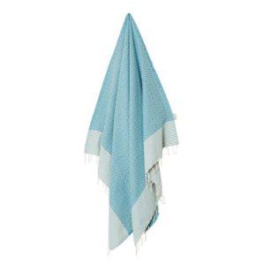 Fouta-/hamam-pyyhe, Frizzy turquoise