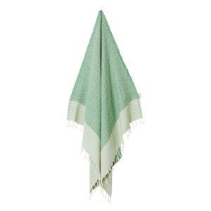 Fouta-/hamam-pyyhe, Frizzy green