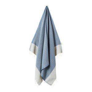 Fouta-/hamam-pyyhe, Frizzy blue