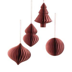 Joulukuusenkoriste, Deco rubiininpunainen