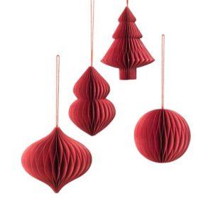 Joulukuusenkoriste, Deco punainen