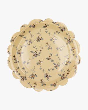 Beatrix 22,5 Cm Paper Plate 8pk, Keltainen