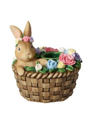 Bunny In Basket -kynttilänjalka