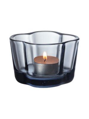 Aalto-kynttilälyhty kierrätyslasia 60 mm