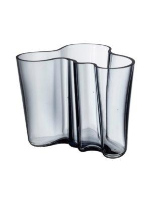 Aalto-maljakko kierrätyslasia 160 mm